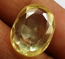 11.30 CT YELLOW SAPPHIRE Lab Created AAA+Best Quality Oval Shaped Gems 1646 PL
