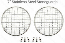 "7"" Stainless Steel Stoneguards Stone Guard Headlight/headlamps Classic Mini"