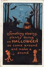 POSTALLY USED FROM AMITYVILLE OCTOBER 31st 1910, BERGMAN, S. HALLOWEEN POSTCARD