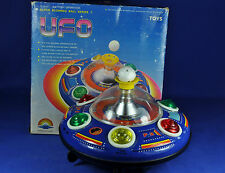 Blech / Tin Toy: UFO Untertasse / Flying Saucer, Super Blowing Ball, 1970, China