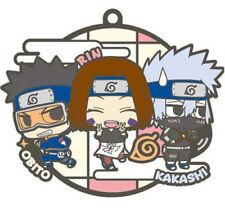 Naruto Three Man Cell  Kakashi, Obito, Rin Rubber Key Chain Anime Manga NEW
