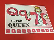 Letter Q Queen- Number Sequencing Puzzle, numbers 1-10 Laminated