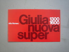 ALFA ROMEO  Giulia nuova super 1300 and 1600  brochure/Prospekt   1974.
