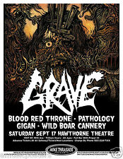 GRAVE / BLOOD RED THRONE / PATHOLOGY / GIGAN 2011 PORTLAND CONCERT TOUR POSTER