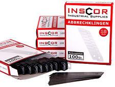 INSCOR Abbrechklingen 500 St. für Cuttermesser 18mm / Ersatzklingen für Cutter