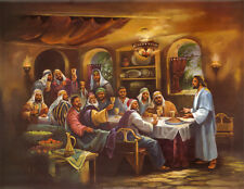 Black Last Supper Art Poster Print by Bev Lopez, 28x22