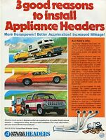 1975 Print Ad of Appliance Industries Headers w Chevy Truck Ford Pickup & Camaro