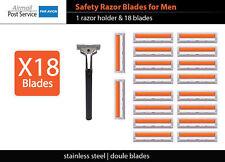 X18 Shaving Razor Blades + HOLDER Compatible with Men gillette vector handle