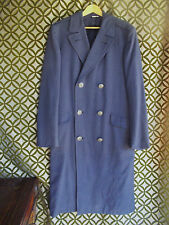 Vtg Blue Wool Overcoat USAF Air Force Emerson Clothing Scovill Silver Buttons