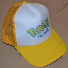 Yellow Pokemon Trainer Go Hat Ball Cap Outfit Cosplay Team Instinct Boys & Girls