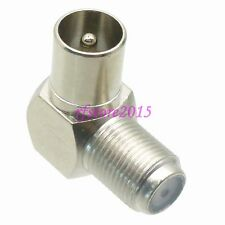 1pce Adapter Connector F TV female to IEC PAL DVB-T male 90° for Radio Antenna