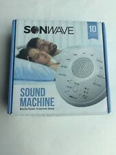 Sonwave Sleep Sound Machine Therapy System 10 Soothing Sounds