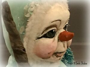 OOAK, Snowman, Snow People, Elf, Candy Container, Christmas, Winter