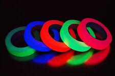 5 Pack 1 Inch UV Blacklight Reactive Fluorescent Gaffer Tape 5 Rolls x 25 Yards