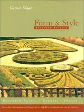 Form and Style, 11th Edition Research Papers Reports Theses, Carole Slade.