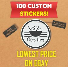 100 Custom stickers Bulk | Die Cut Product Labels | Business Stickers | Decals