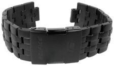 Casio Armband | Uhrenarmband Edelstahl Band IP Schwarz für Edifice EQW-M710DC