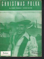 Christmas Polka 1949 Jimmy Wakely Sheet Music