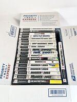 LOT of 19 Playstation 2 PS2 Sports Games - Football Basketball NHL PGA BOX 1