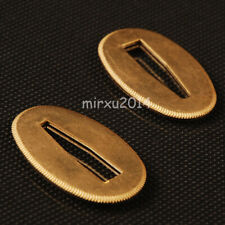 Thick Brass Seppa Sword Spacer Washer for Japanese Samurai Sword maintain 2 Pcs