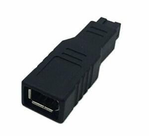 CERRXIAN FireWire IEEE 1394 Type A 400 6 Pin Female to 1394 Type B 800 9 Pin