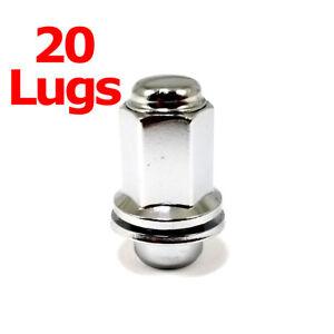 20x Excalibur 98-0002 Lug Nuts 12x1.50 Chrome Mag w/Washers for Lexus