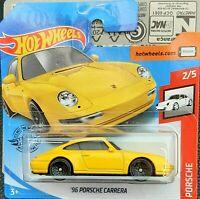 2020 Hot Wheels '96 Porsche Carrera Yellow 1:64 1/64 Porsche 2/5 GHF18 72/250