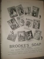 Brooke's Soap Monkey Brand for yachts and steamboat fittings advert 1892 ref AU