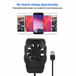 Portable USB Cell Phone Cooler Radiator Cooling Fan Universal For  Phones