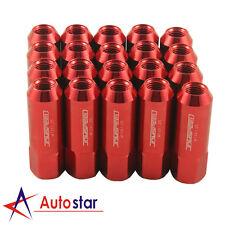 Red 20pcs Alloy racing Wheel Tuner Lug Nuts Aluminum For Nissan Subaru Infiniti