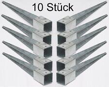 10 Bodenhülsen Einschlaghülsen 90mm Pfosten-träger 75 cm lang Holz-Lamellen-zaun