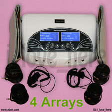 Dual Ionic Foot Detox Bath Spa Cell Cleanse Machine + 4 Arrays Far Belts 5 Modes