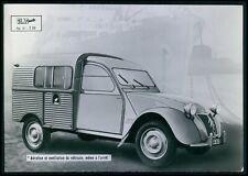 advertising Citroen 2CV fourgonette original c1950s postcard