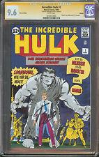 Incredible Hulk #1 CGC 9.6 NM+ W SIGNED STAN LEE REPRINT Incredible Hulk #1
