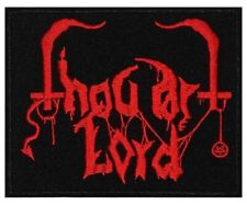 THOU ART LORD - Red Logo - Embroidered Patch * Gestickter Aufnäher