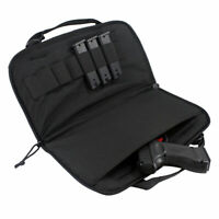 Tactical Pistol Case Handgun Bag Magazine Pouch with 6 Double Stack Magazines