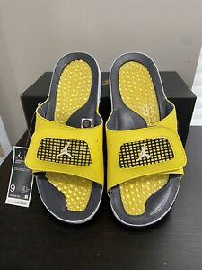 New Nike Jordan Hydro Retro 4 IV Lightning Slides Sandals Men's Size 9