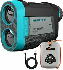 MiLESEEY 650 Yards Golf Laser Range Finder With Flagpole Lock 6X Magnification