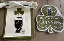 New! Guinness St Patrick's Day pennant Stringers And 25 Double Sided Clovers