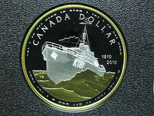 2010 100th Anniversary of Canada's Royal Navy Canadian Gold Plated Silver Coin