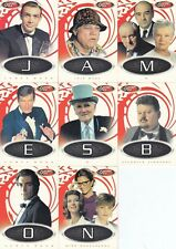 JAMES BOND 40TH ANNIVERSARY 2002 RITTENHOUSE GAME CARD INSERT SET OF 8