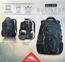 High Sierra Business Elite Backpack |Storage Bag|Fits 17'' Laptop & Tablet|Black