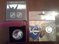 Canada 2015 $10 Fine Silver Montreal Canadiens & 2009 25 Cents Canadiens coins