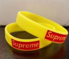 Supreme Silicone Rubber Wristband Bracelet YELLOW each
