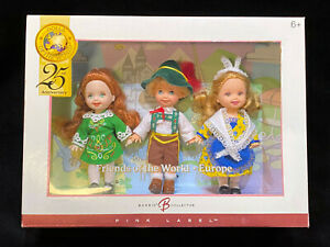 Barbie Collector Friends Of The World 25th Anniversary 3 Dolls NIB