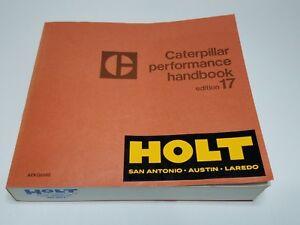 CATERPILLAR PERFORMANCE HANDBOOK EDITION 17 HOLT