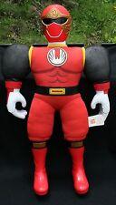 "Power Ranger Vtg 2002 Large Red Bandai  Plush Stuffed Action Figure 21 1/2"" Toy"