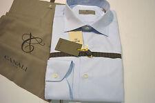 New  CANALI Dress Shirt 100% Cotton Size 17.5 Us 44 Eu  (Store Code 42)