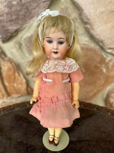 """Antique German Baby Doll Bisque Head Marked A 11/0 M 8"""" Composition Body"""