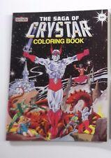 Vintage CRYSTAR CRYSTAL WARRIOR MARVEL COLORING ACTIVITY BOOK 1 TOY rare nice